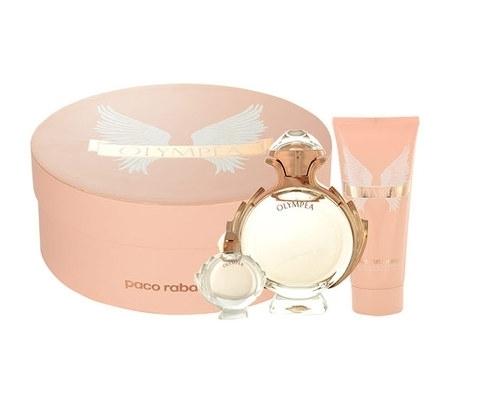 Paco Rabanne Olympea Eau De Parfum 80ml - SET: Eau De Parfum 80ml & 100ml Body Lotion & 6ml Eau De Parfum