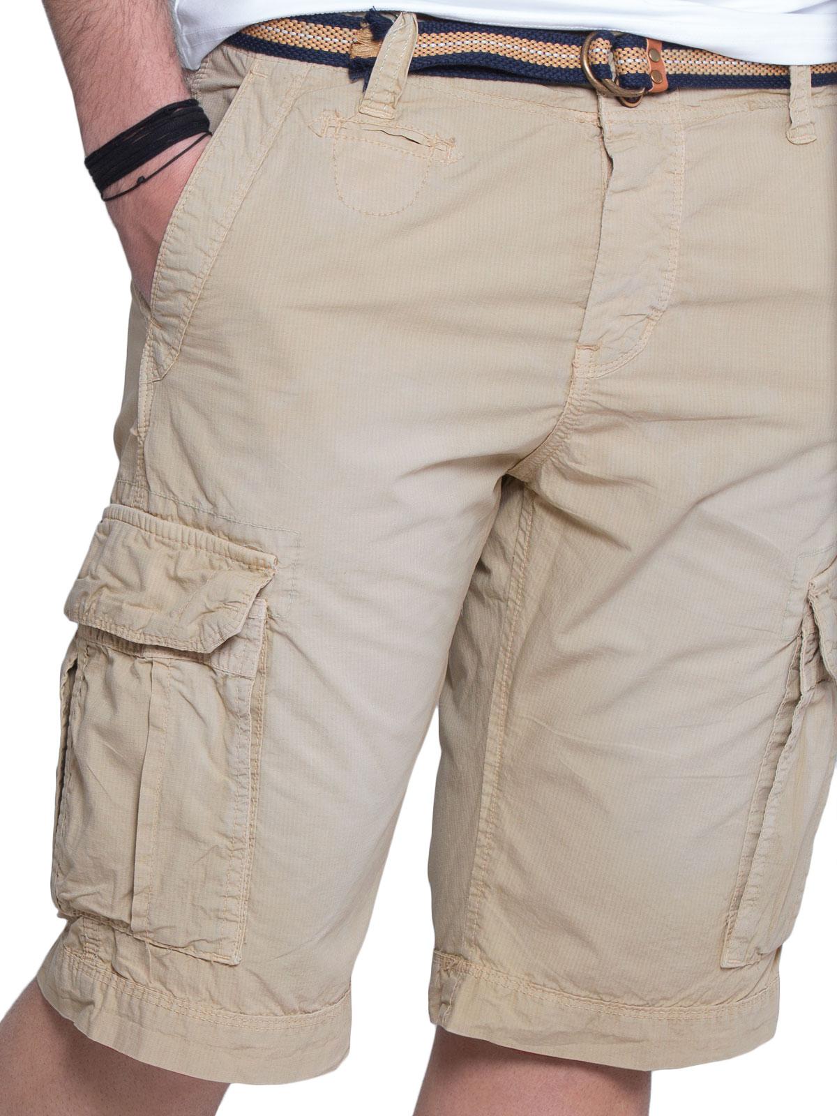 Ανδρική Βερμούδα Cargo με Ζώνη - Slim Fit ανδρικά   παντελόνια   βερμούδες ανδρικές