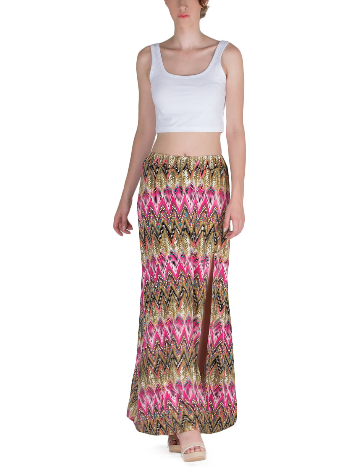 Μάξι Φούστα με Σκίσιμο - Tribal Print γυναικεία   φούστες