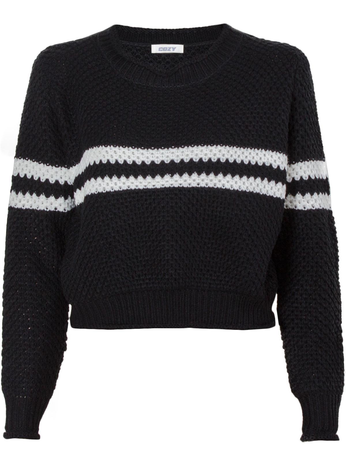 Boxy Πλεκτό με Ρίγες γυναικεία   μπλούζες   πλεκτά   πουλόβερ