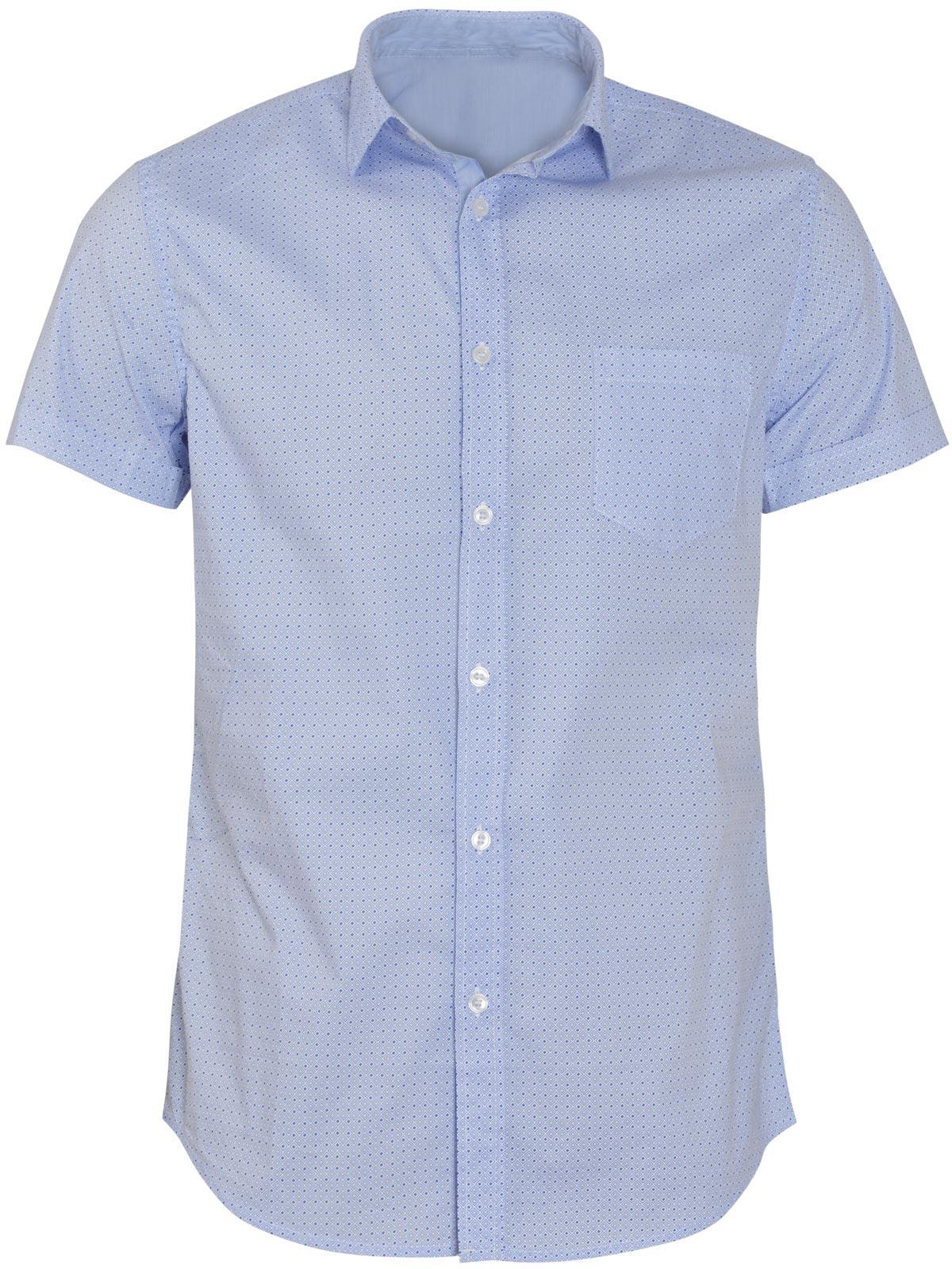 Πουκάμισο με Μικρό Τύπωμα - Slim Fit ανδρικά   πουκάμισα