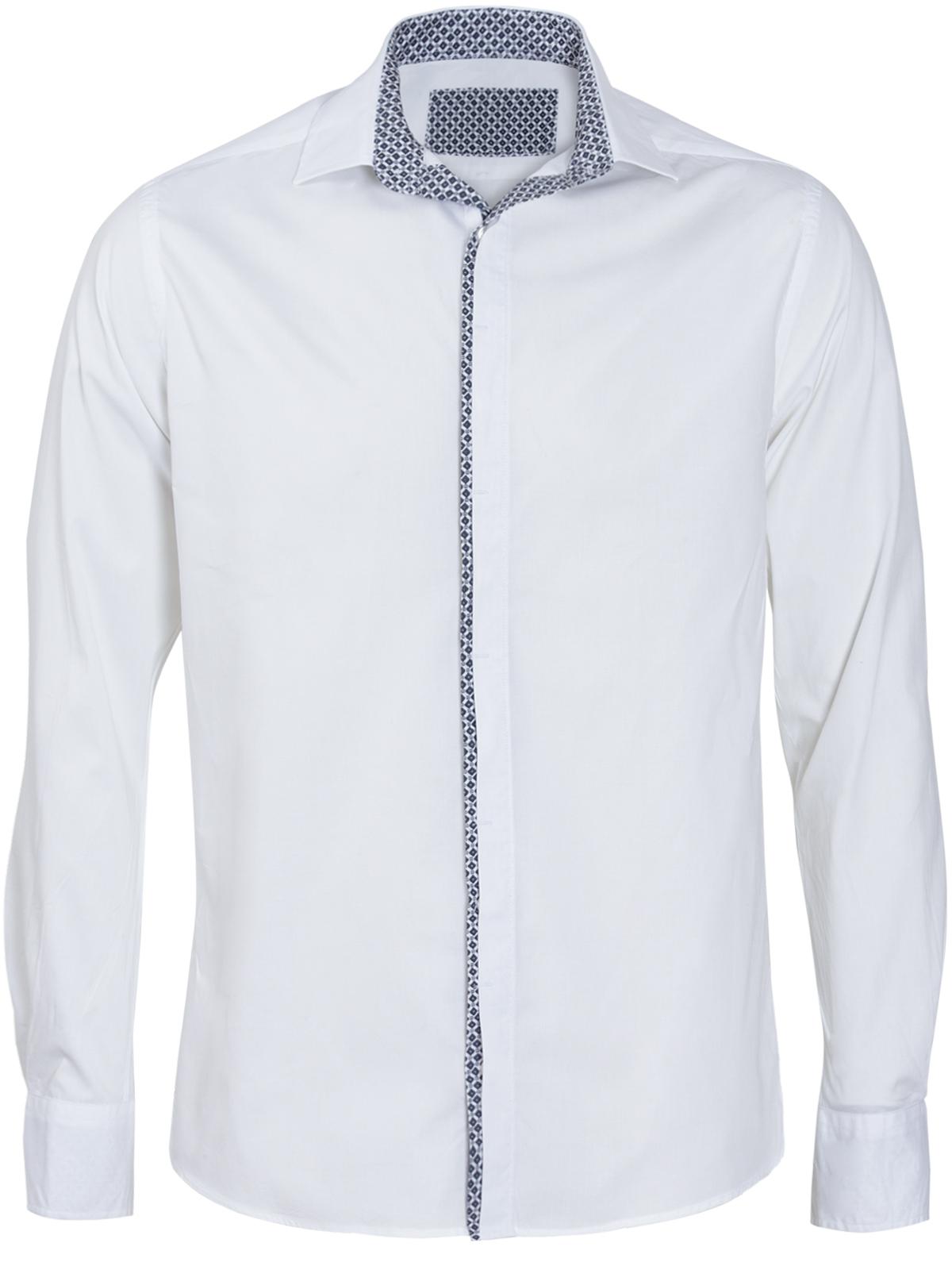 Μακρυμάνικο Πουκάμισο με Γεωμετρικό Τύπωμα ανδρικά   πουκάμισα
