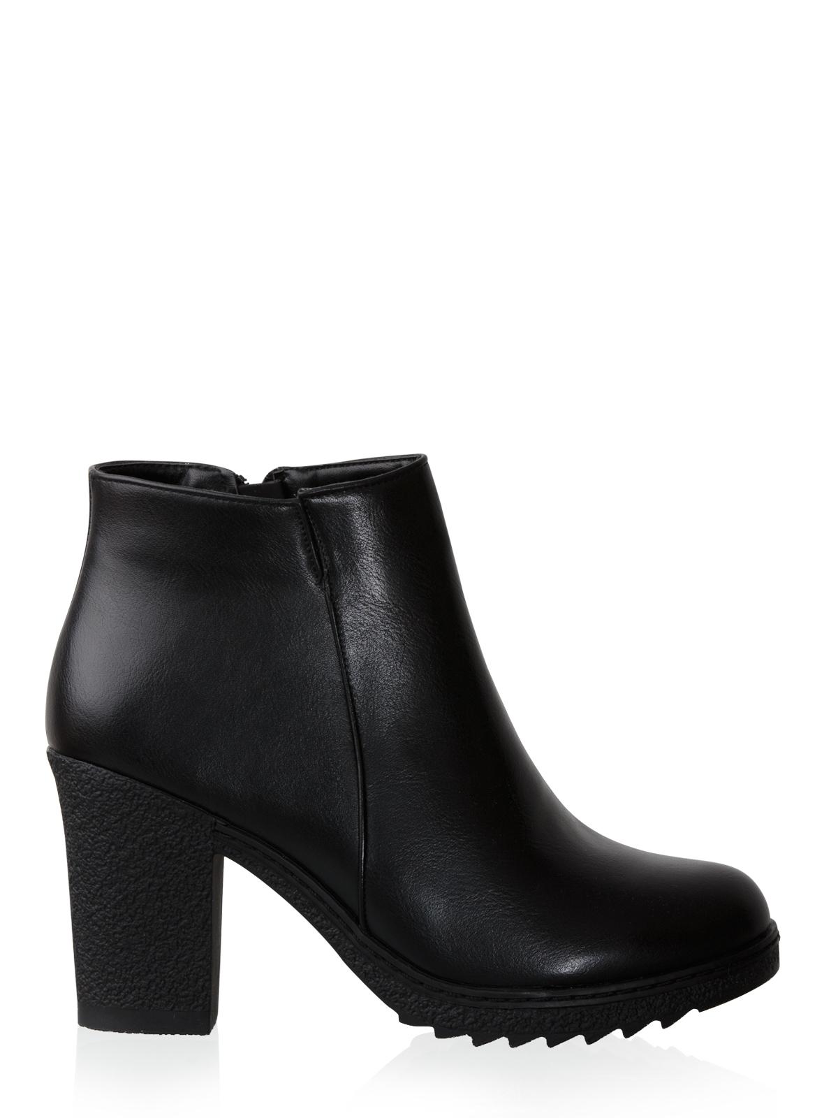 Μποτάκι με Μεσαίο Τακούνι-Μαύρο γυναικεία   παπούτσια   μποτάκια