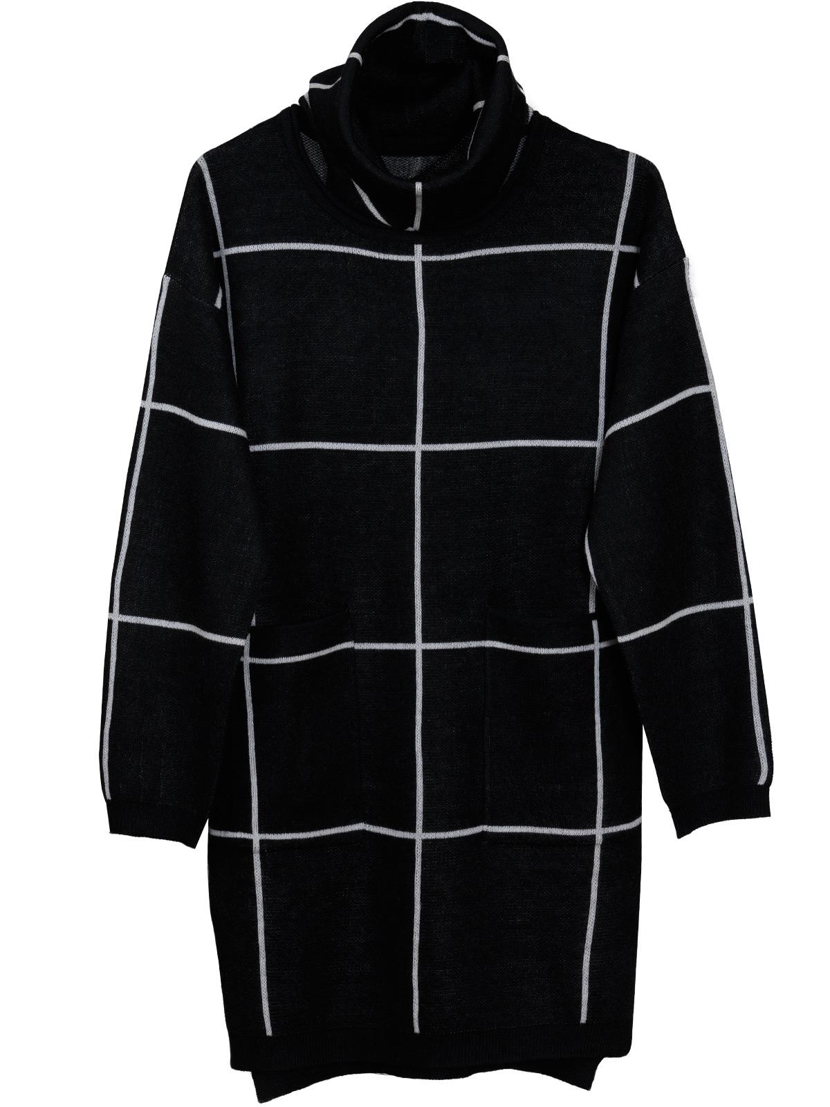Μακριά Πλεκτή Μπλούζα-Φόρεμα