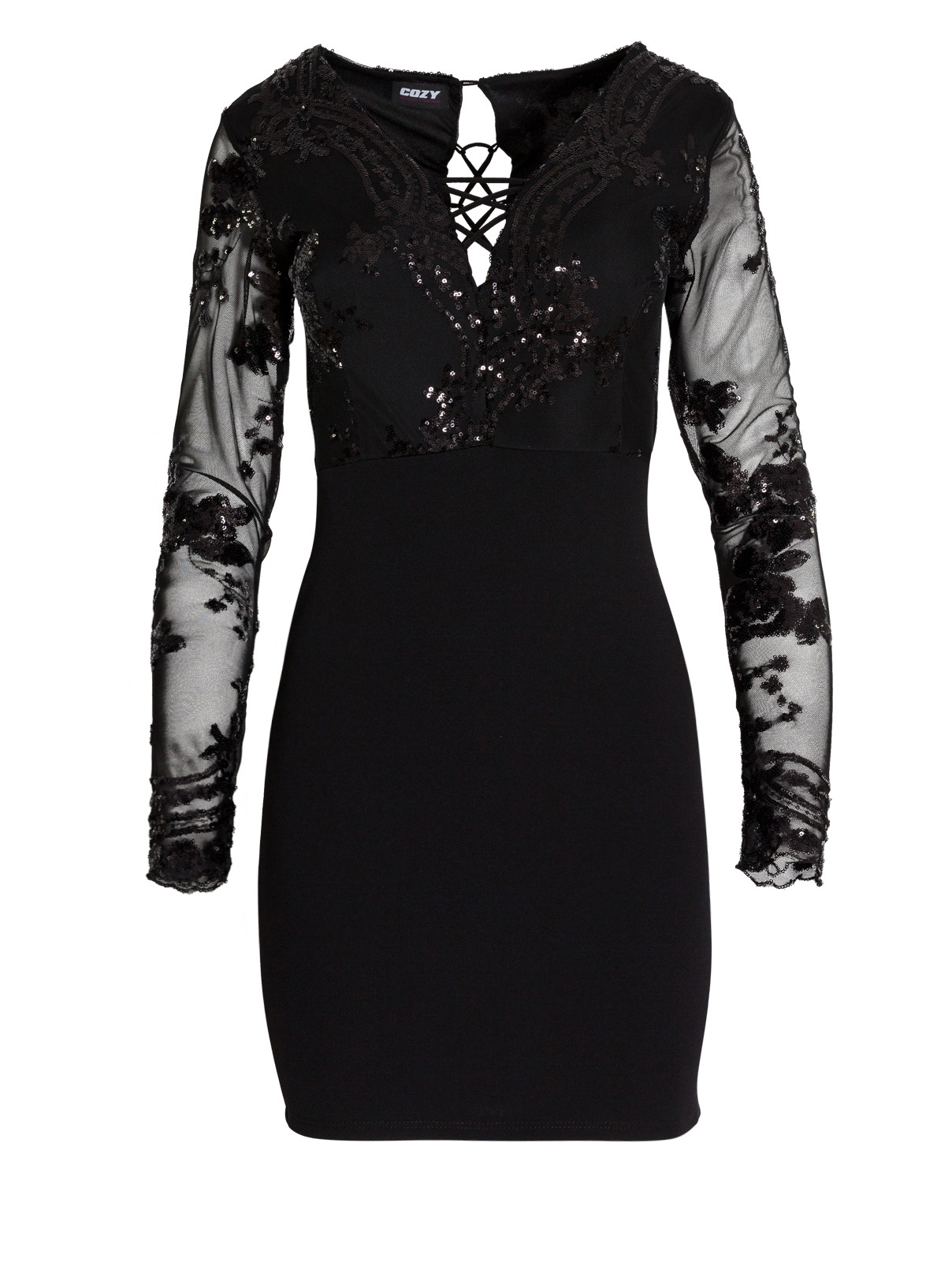 Φόρεμα με Παγιέτες και Χιαστί Πλάτη