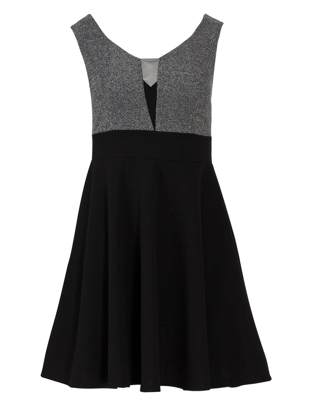 Μίνι Φόρεμα με V Λούρεξ Τόπ