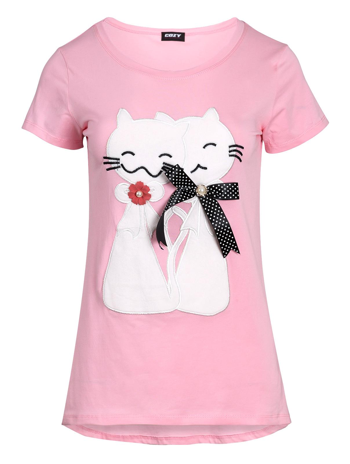 Μπλούζα με Απλικέ Γάτες