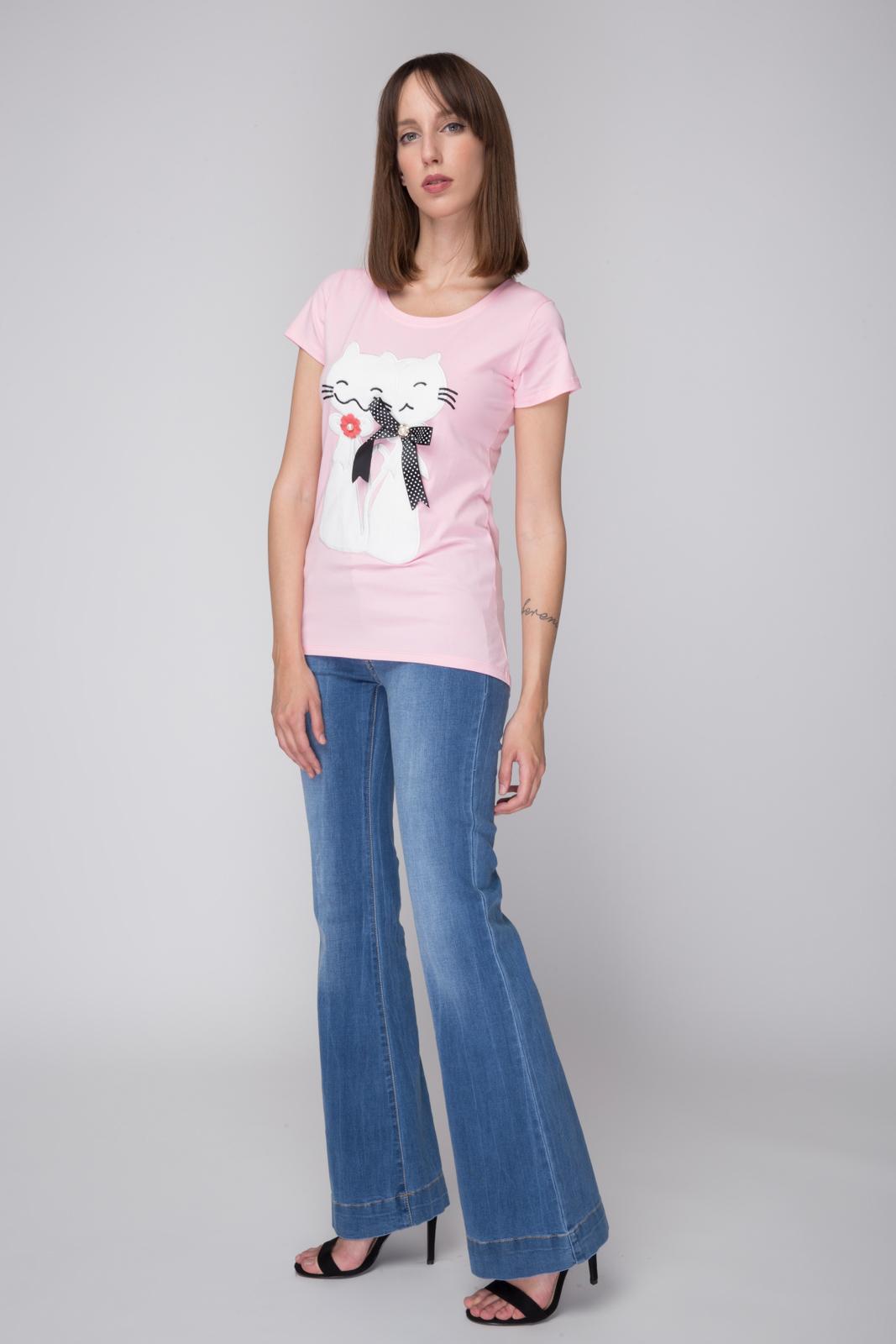 Μπλούζα με Απλικέ Γάτες 96bbc508429