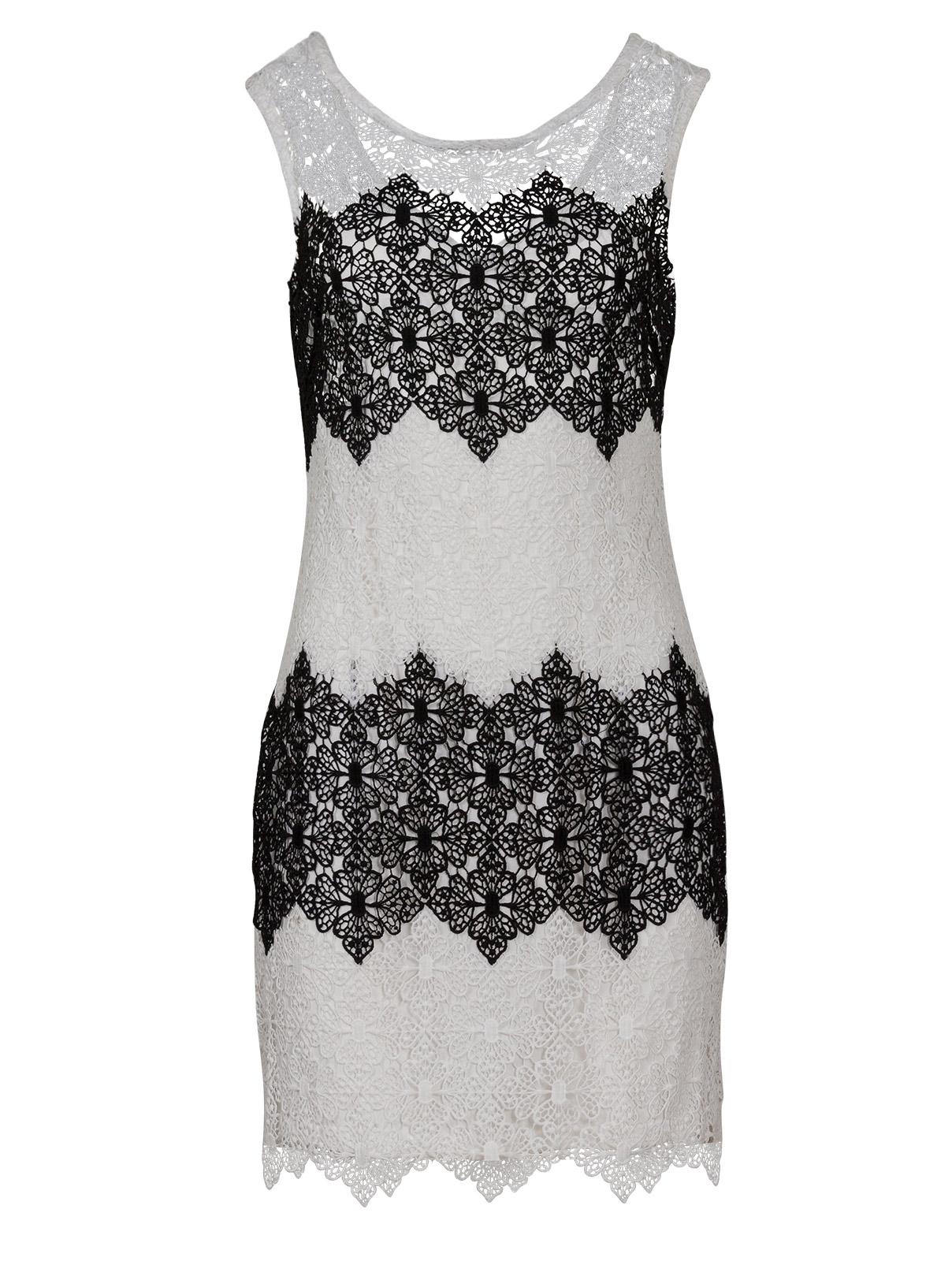Crochet Ασπρόμαυρο Φόρεμα γυναικεία   φορέματα   mίνι   μίντι