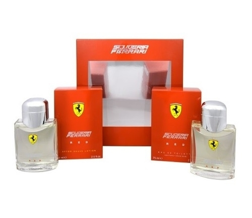 Ferrari Scuderia Red Eau De Toilette 75ml Combo: Edt 75 Ml + 75 Ml Aftershave Lotion