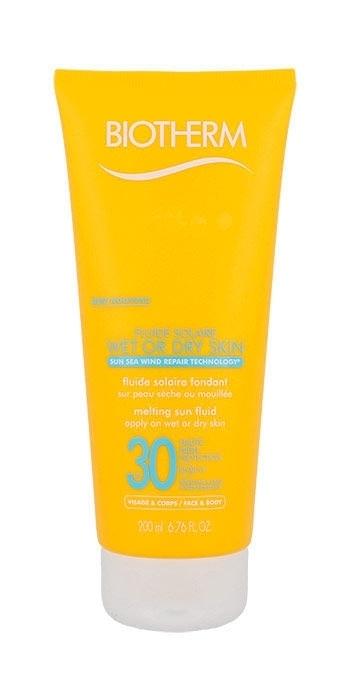 Biotherm Wet Or Dry Skin Melting Sun Fluid SPF30 200ml Tester