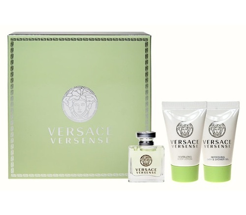 Versace Versense Eau De Toilette 5ml Combo: Edt 5ml + 25ml Shower Gel + 25ml Body Lotion