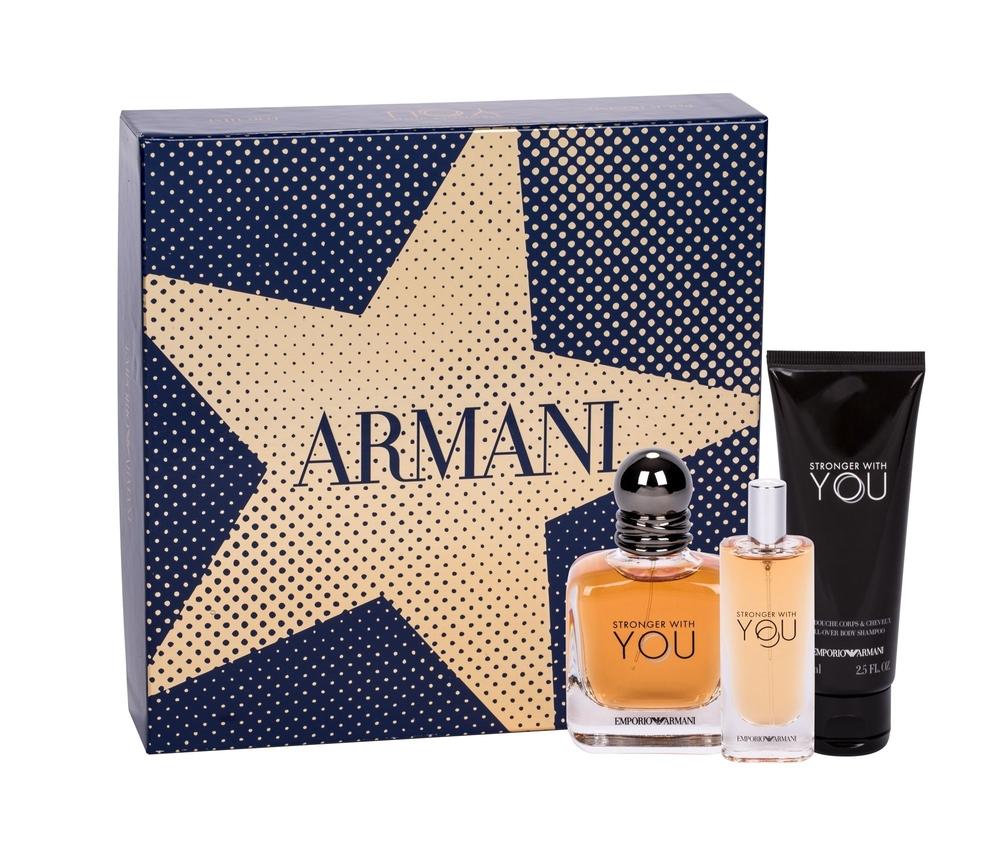 Giorgio Armani Emporio Armani Stronger With You Eau De Toilette 50ml - Set
