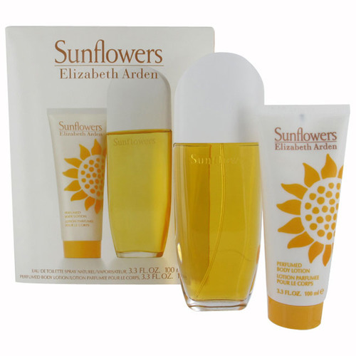 Elizabeth Arden Sunflowers Eau De Toilette 100ml Combo: Edt 100ml + 100ml Body Lotion