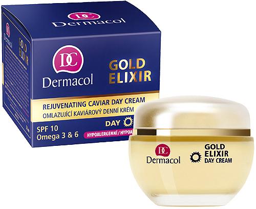 Dermacol Gold Elixir Rejuvenating Caviar Day Cream 50ml SPF10 oμορφια   πρόσωπο   κρέμες προσώπου