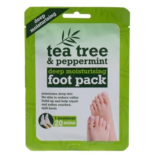 Xpel Tea Tree Tea Tree & Peppermint Deep Moisturising Foot Pack Foot Cream 1pc oμορφια   σώμα   κρέμες σώματος