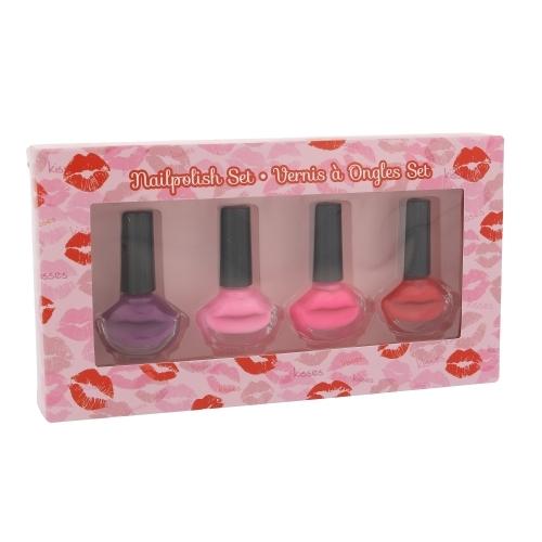 2K Nails With A Kiss Nail Polish Kit 4 X 6ml oμορφια   μακιγιάζ   μακιγιάζ προσώπου   σετ μακιγιάζ