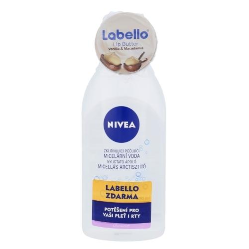 Nivea Caring Micellar Water Sensitive Skin Duo Kit 400ml Sensitive Skin - Set Micellar Water 400ml & Lip Care Labello Lip Butter 19ml Vanilla Macadamia