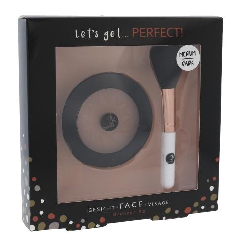 2k Let's Get Perfect! : Bronzer 10gr Medium/Dark & Brush