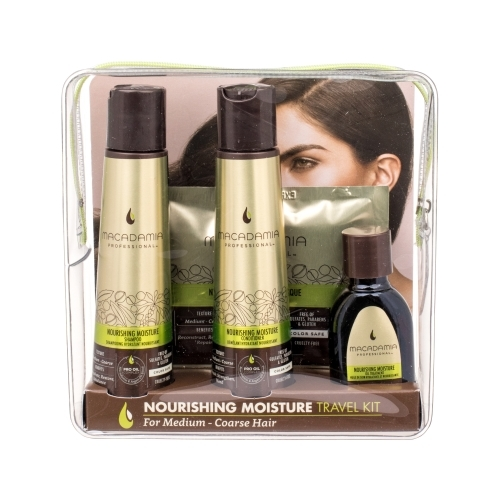 Macadamia Professional Nourishing Moisture Shampoo 100ml Combo: Shampoon 100 Ml + Conditioner 100 Ml + Hair Mask 30 Ml + Oil Hair Care 30 Ml + Cosmetic Bag (Coarse Hair - Normal Hair)
