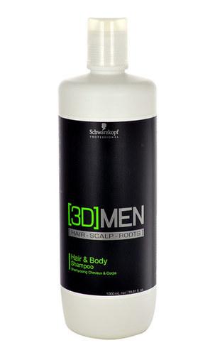 Schwarzkopf 3Dmen Hair & Body Shampoo 1000ml