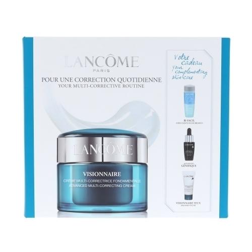 Lancome Visionnaire Advanced Multi-correcting Day Cream 50ml Combo: Skin Cream 50 Ml + Eye Makeup Remover Bi-facil 30 Ml + Serum Advanced Genifique 7 Ml + Eye Balm Visionnaire Eye On Correction 5 Ml (All Skin Types - For All Ages)