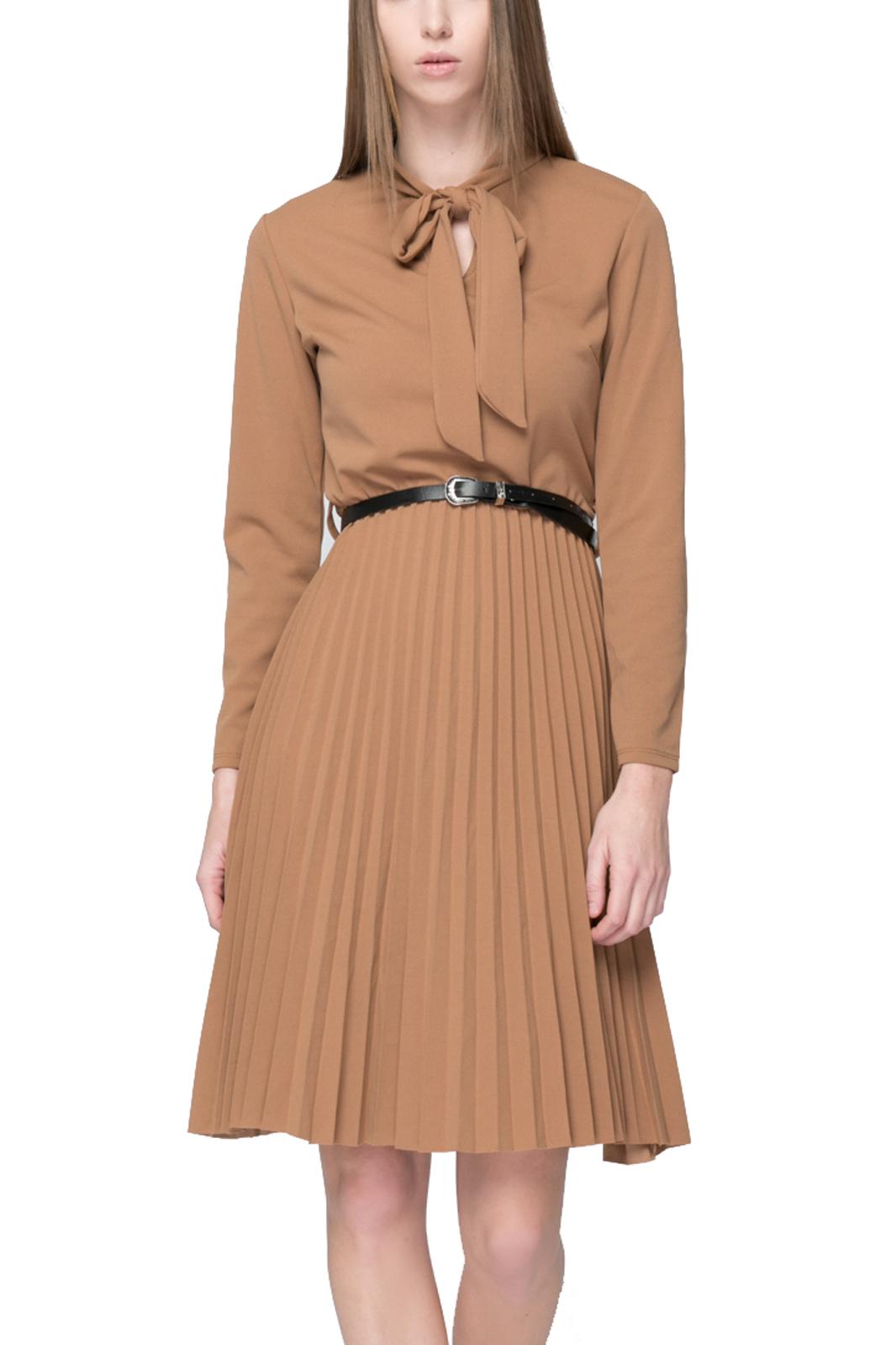 Μίντι Φόρεμα με Ζώνη