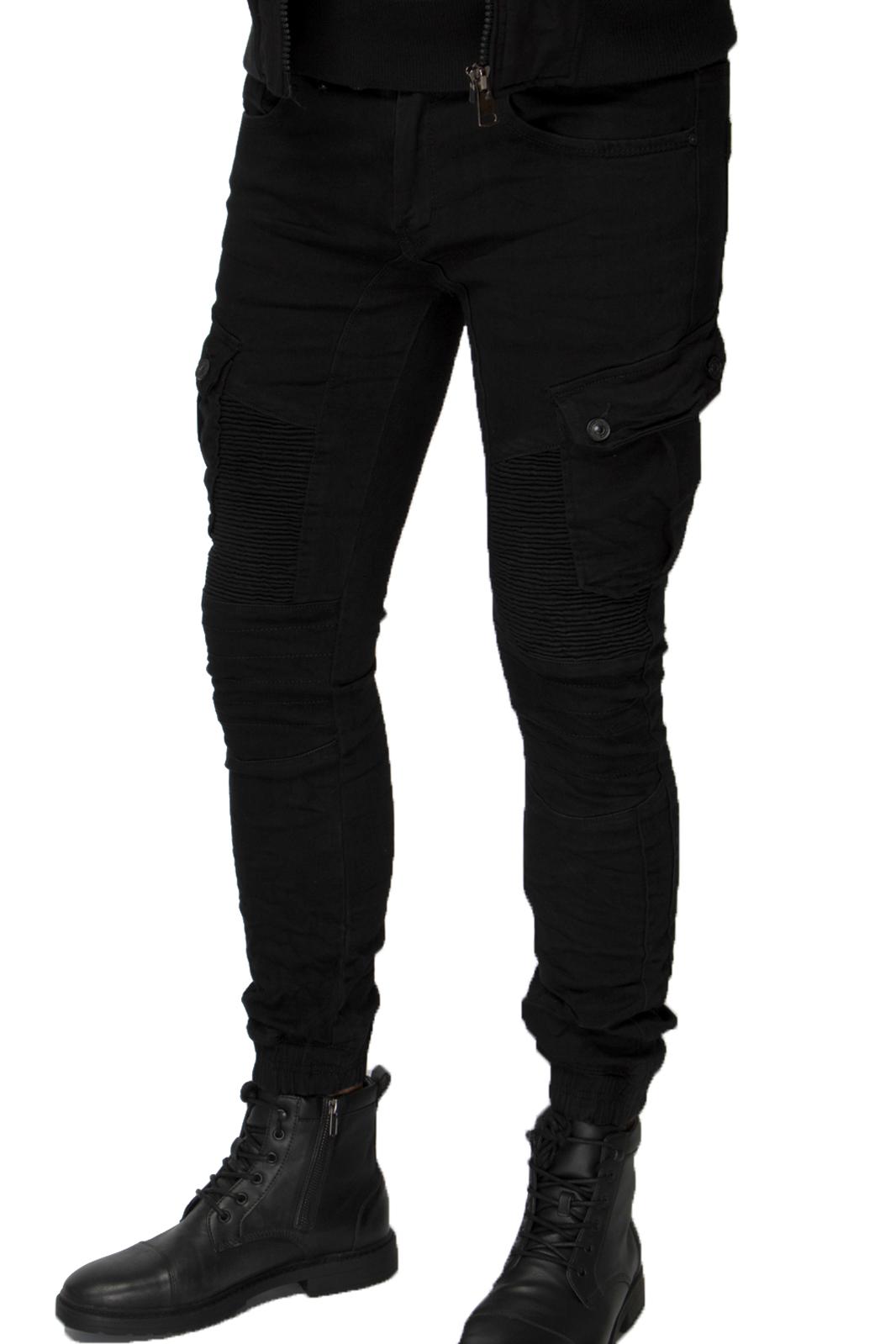 Skinny Μαύρο Ντένιμ Biker Cargo - Limited Edition