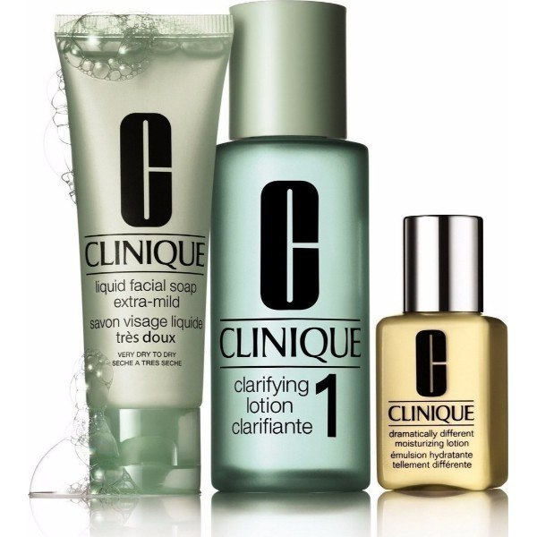 Clinique 3-step Skin Care 4 Cleansing Water 100ml Combo: 50ml Liquid Facial Soap oμορφια   μαλλιά   αξεσουάρ μαλλιών   σετ περιποίησης μαλλιών