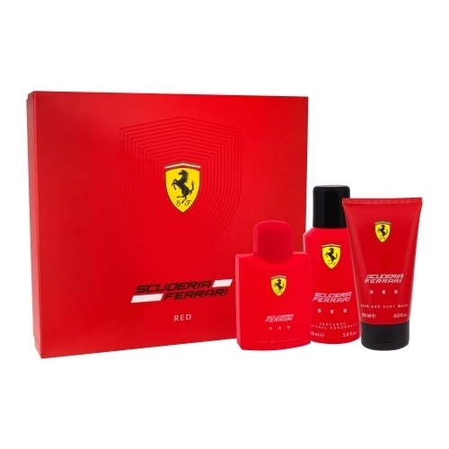 Ferrari Scuderia Red Eau De Toilette 125ml Combo: Edt 125 Ml + Shower Gel 150 Ml + Deodorant 150 Ml