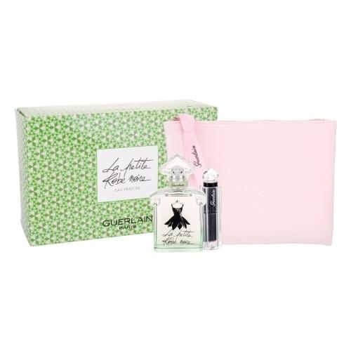 Guerlain La Petite Robe Noire Eau Fraiche Eau De Toilette 50ml Combo: Edt 50 Ml + Lipstick La Petite Robe Noire 011 Beige Lingere 2,8 G + Cosmetic Bag