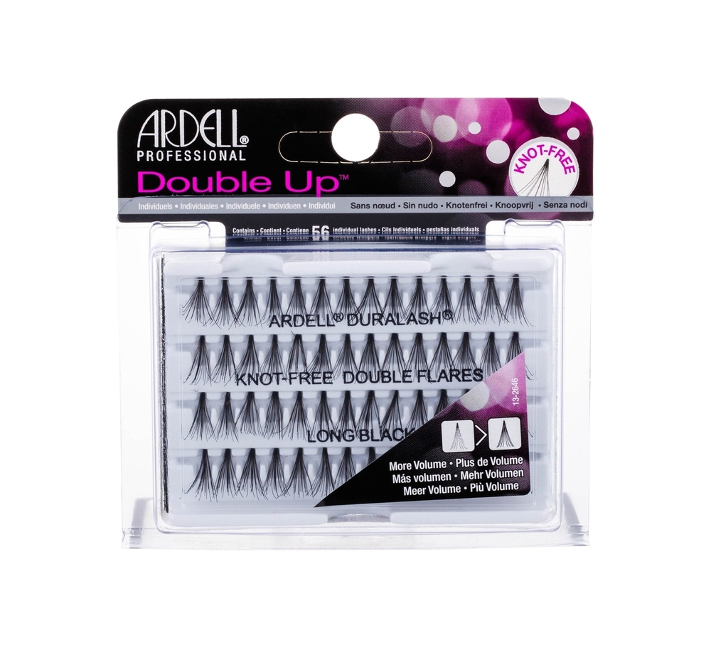 Ardell Double Up Knot-free Double Flares False Eyelashes 56pc Long Black