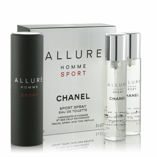 Chanel Allure Homme Sport Eau De Toilette 20ml Twist And Spray 3x 20 Ml