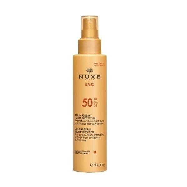 Nuxe Sun Melting Spray Sun Body Lotion 150ml Waterproof Spf50