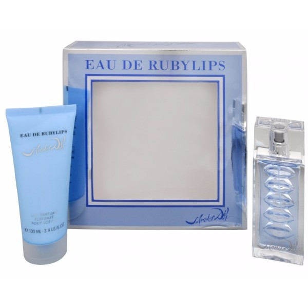 Salvador Dali Eau De Rubylips Eau De Toilette 50ml Combo: Edt 50ml + 100ml Body Lotion (travel Set)