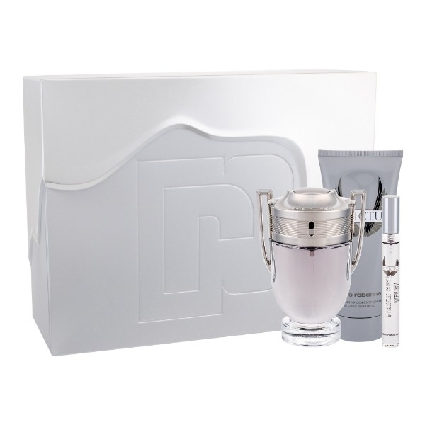 Paco Rabanne Invictus Eau De Toilette 100ml Combo: Edt 100 Ml + Edt 10 Ml + Shower Gel 100ml