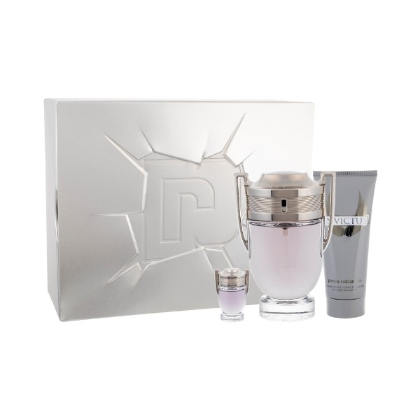 Paco Rabanne Invictus Eau De Toilette 100ml Combo: Edt 100ml + 100ml Shower Gel + 5ml Edt