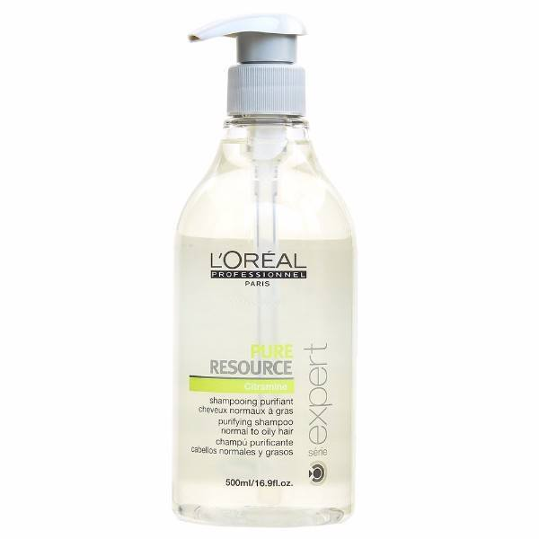 L/oreal Professionnel Serie Expert Pure Resource Shampoo 500ml (Oily Hair - Normal Hair)