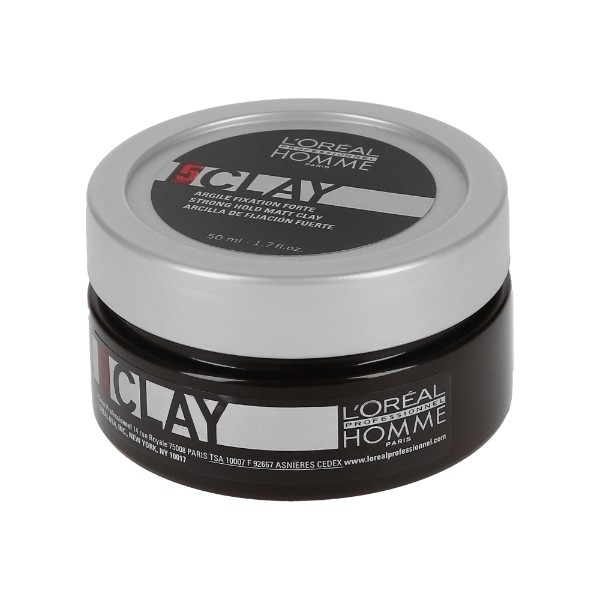 L/oreal Professionnel Homme Clay For Definition And Hair Styling 50ml (Strong Fi oμορφια   μαλλιά   styling μαλλιών   κερί μαλλιών