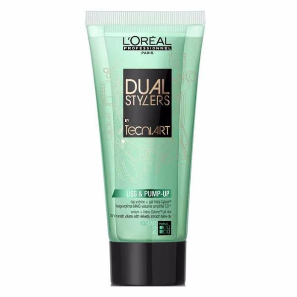 Loreal Professionnel Tecni Art Dual Stylers Liss & Pump Up Duo Creame & Gel 150m oμορφια   μαλλιά   styling μαλλιών   gel μαλλιών