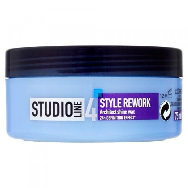 L/oreal Paris Studio Line Style Rework Architect Hair Wax 75ml 24h oμορφια   μαλλιά   styling μαλλιών   κερί μαλλιών