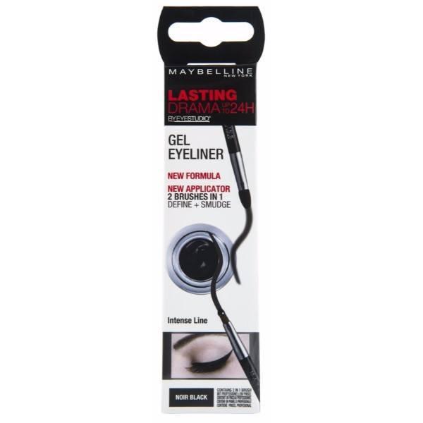 MAYBELLINE Eye Studio Lasting Drama Gel Eyeliner 24h zelowy eyeliner 01 Intense Black 3g