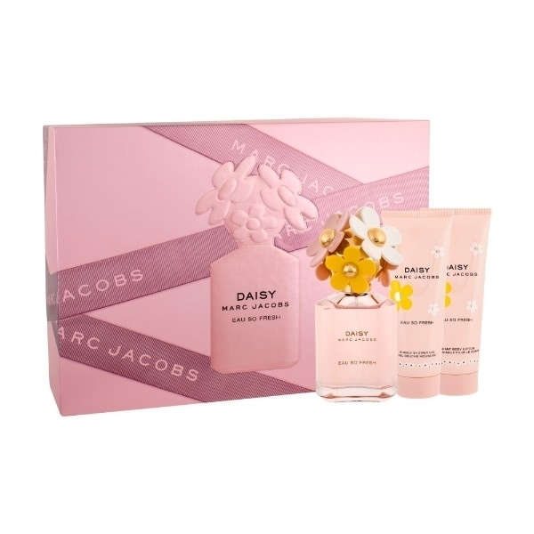 Marc Jacobs Daisy Eau So Fresh Eau De Toilette 75ml Combo: Edt 75ml + 75ml Body Lotion + 75ml Shower Gel