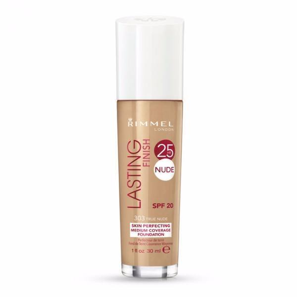 Rimmel London Lasting Finish 25H Nude Foundation 30ml 303 True Nude