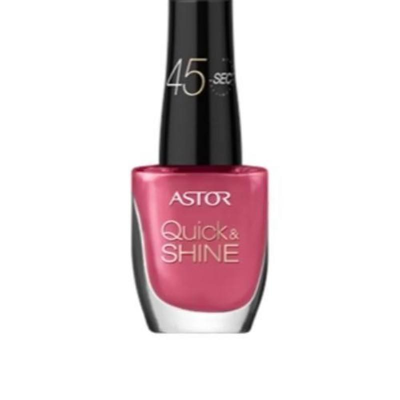 Astor Quick & Shine Nail Polish 8ml 204 Life In Pink
