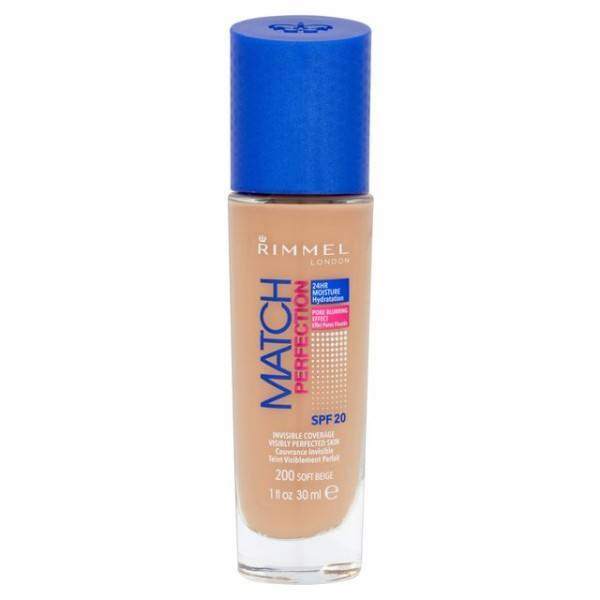 Rimmel Make Up Match Perfection Spf20 30Ml 200 Soft Beige