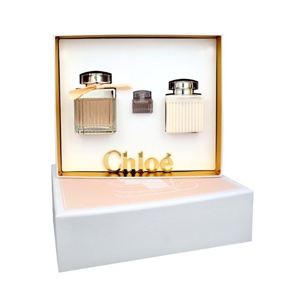 Chloe Fleur Eau De Parfum 75ml Combo: Edp 75 Ml + Body Lotion 100 Ml + Edp 5 Ml