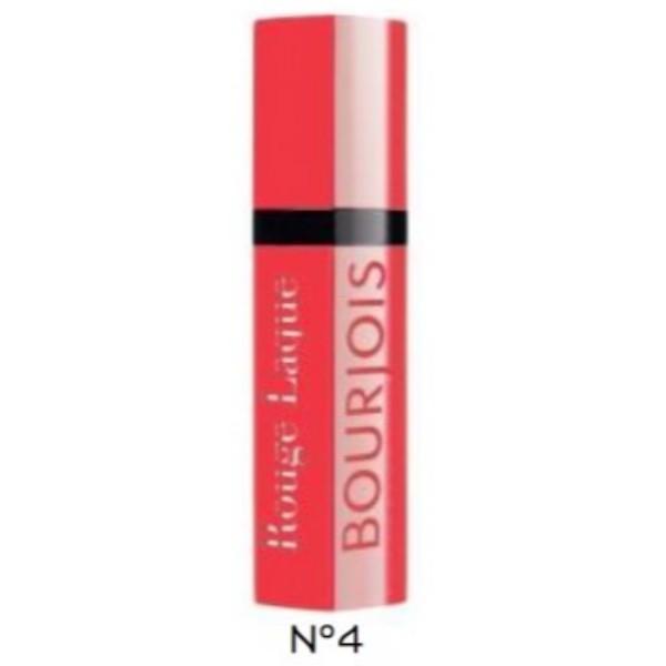 Bourjois Paris Rouge Laque Lipstick 6ml 04 Selfpeach! (Glossy) oμορφια   μακιγιάζ   μακιγιάζ χειλιών   κραγιόν