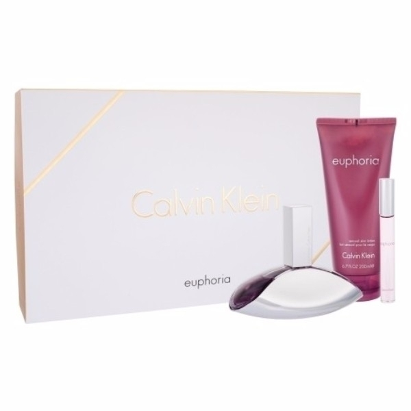 Calvin Klein Euphoria Eau De Parfum 100ml Combo: Edp 100 Ml + Body Lotion 200 Ml + Edp Roll-on 10ml
