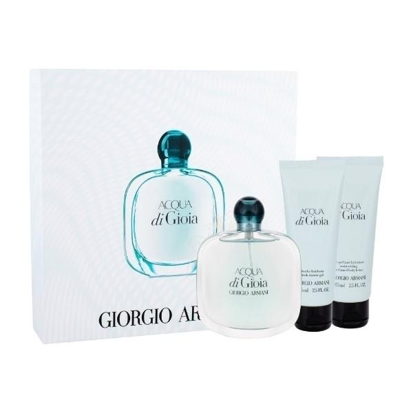 Giorgio Armani Acqua Di Gioia Eau De Parfum 100ml Combo: Edp 100ml + 75ml Body Lotion + 75ml Shower Gel